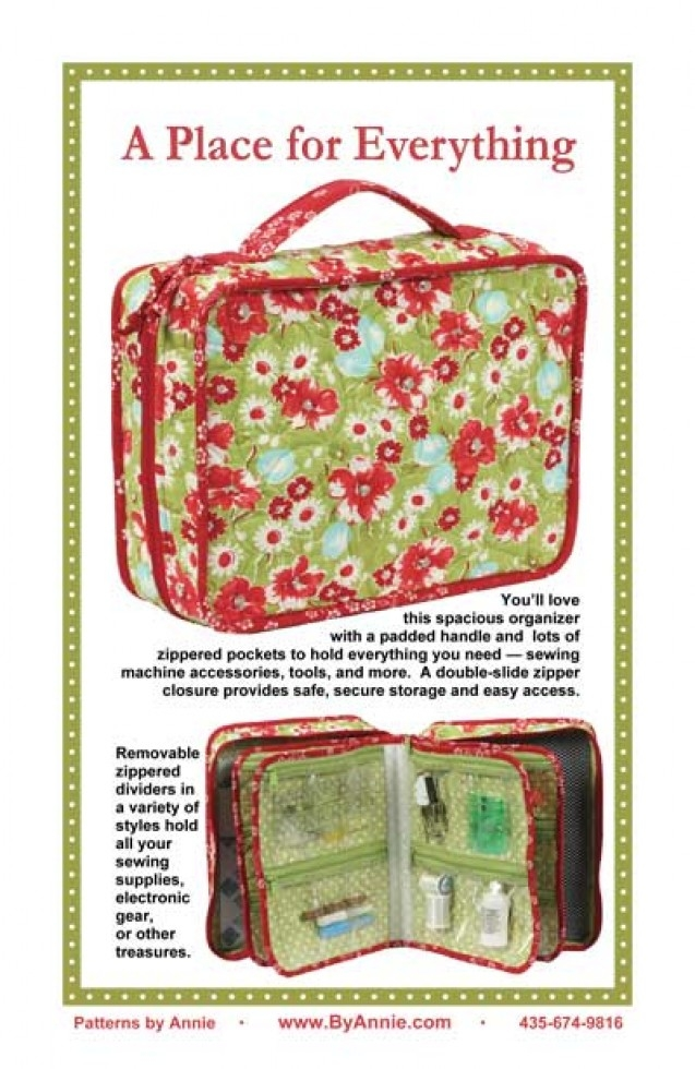 By Annie Sewing Pattern A Place For Everything Organiser