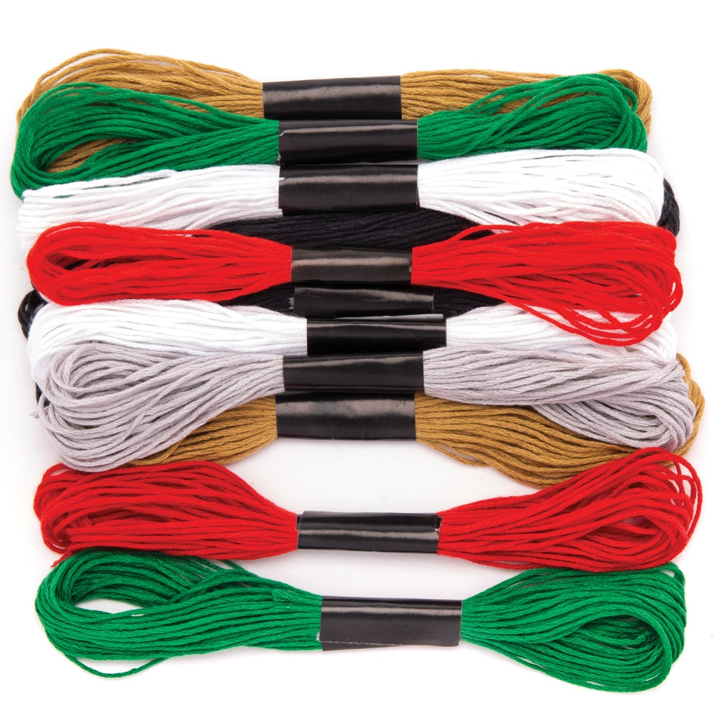 Christmas Embroidery Thread Value Pack (Pack of 12)