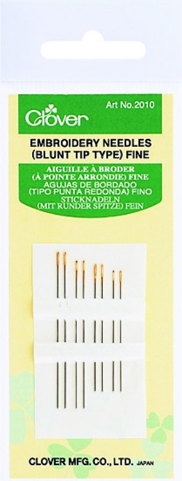 Clover Fine Blunt Embroidery Needles