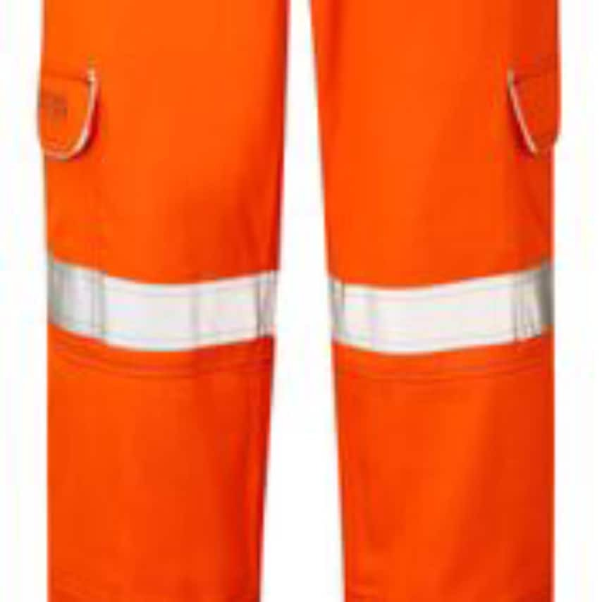 Rail Spec High Visibility Orange Fr-ast-arc Combat Trousers Size 32 Tall