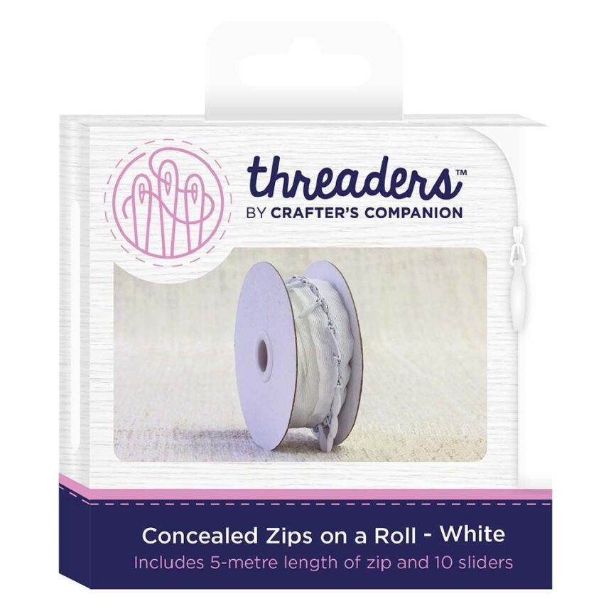 Threaders Concealed Zips on a Roll - White