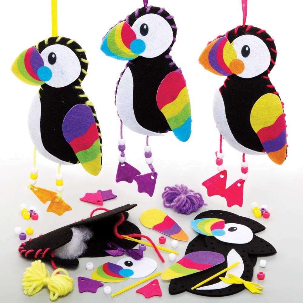 Puffin Sewing Kits (Pack of 3)