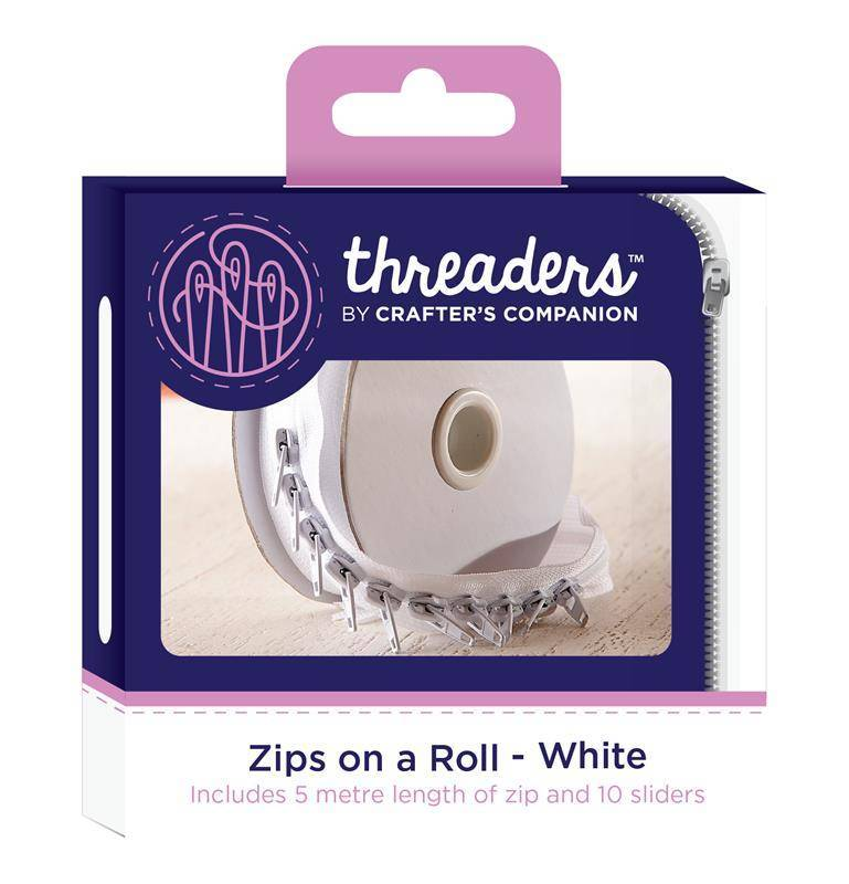 Threaders Zips on a Roll - White