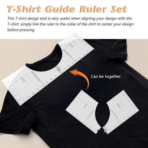Acrylic Transparent T-Shirt Guide Ruler Round Collar Calibration Tool Sewing Accessories Aligns Tool Ruler