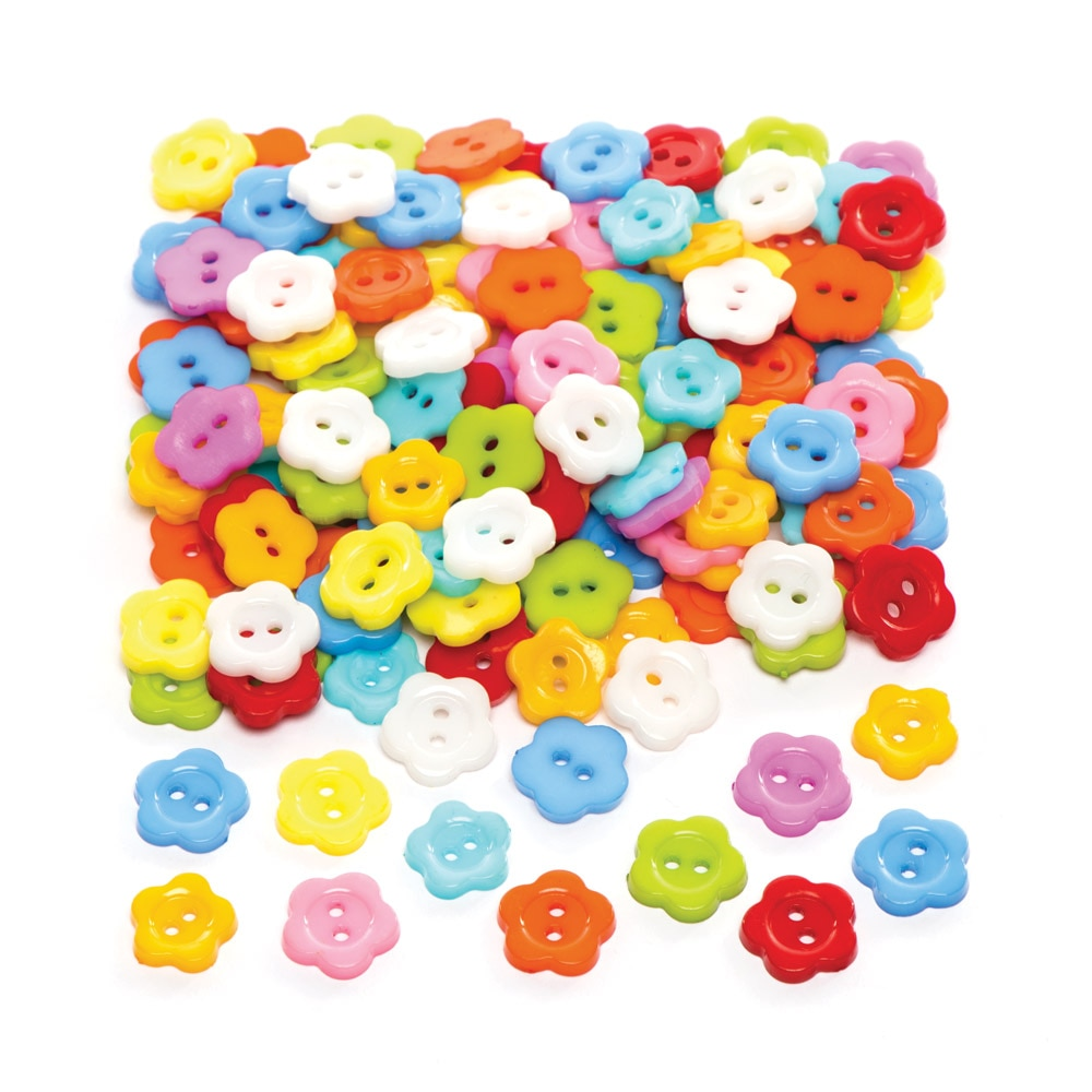 Flower Buttons (Pack of 150)