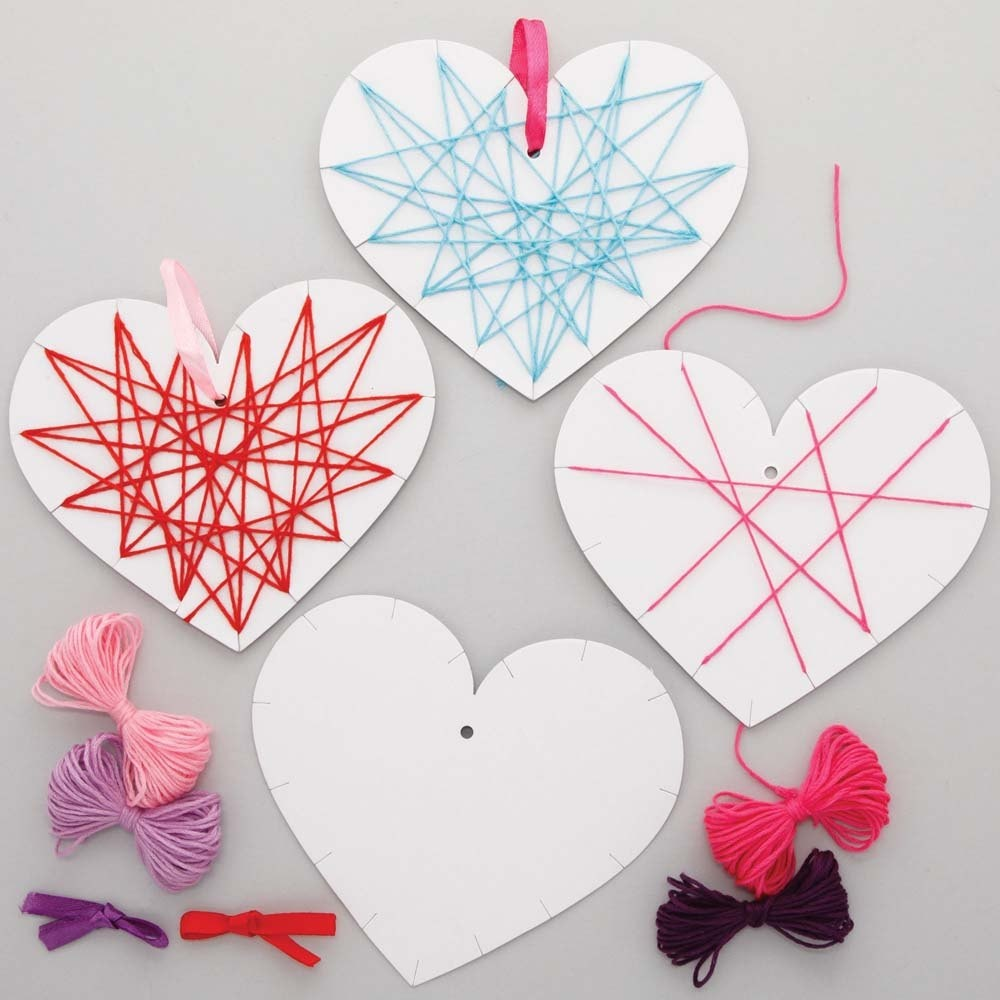 Heart Weaving Decoration Kits (Pack of 8)