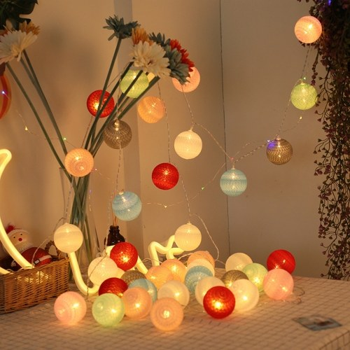 Led Cotton Sewing Thread Ball String Lights Home Christmas Party Wedding Festival Decorative String Lamp