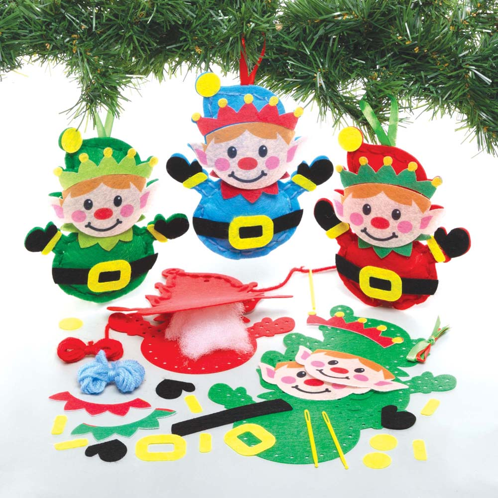 Christmas Elf Decoration Sewing Kits (Pack of 3)
