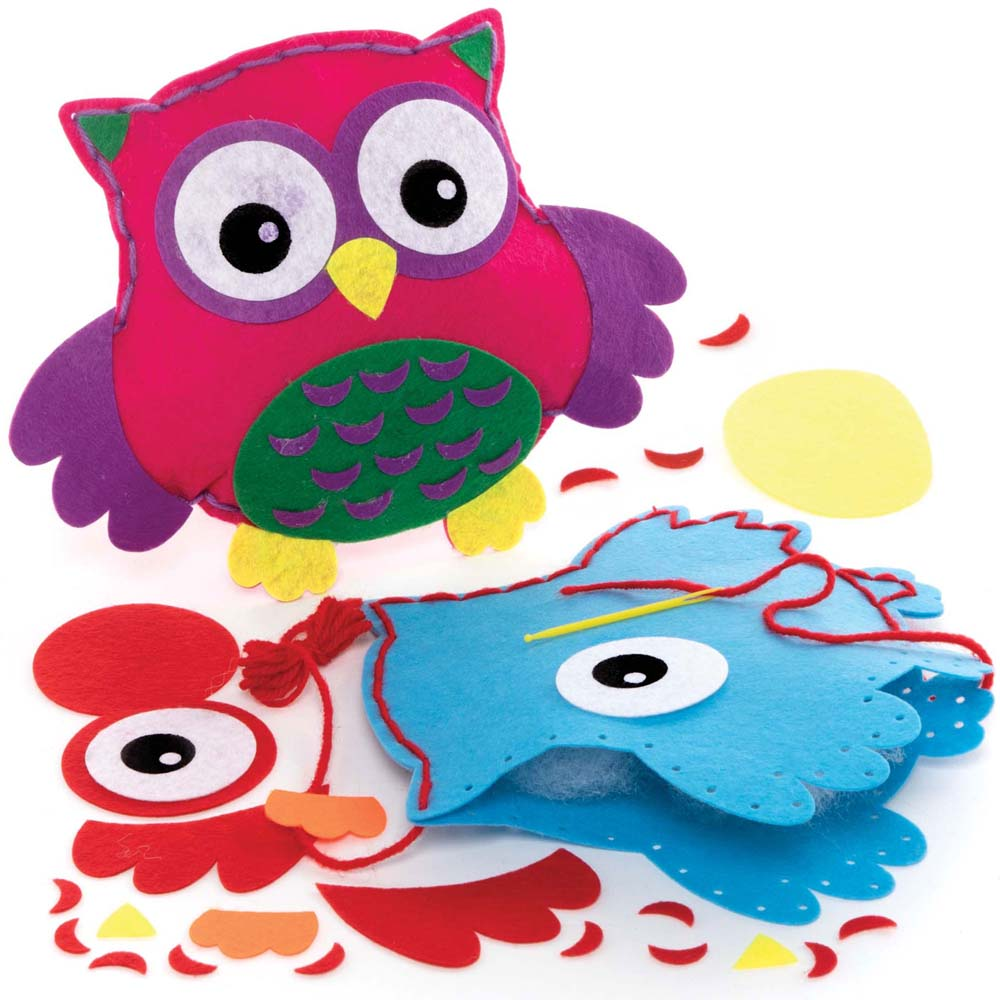 Owl Cushion Sewing Kits (Pack of 2)