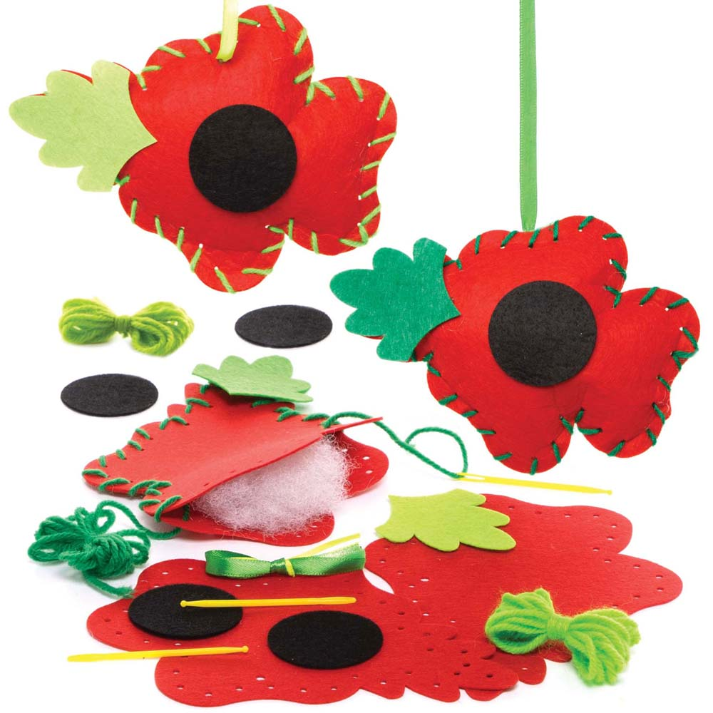 Poppy Sewing Kits (Pack of 3)