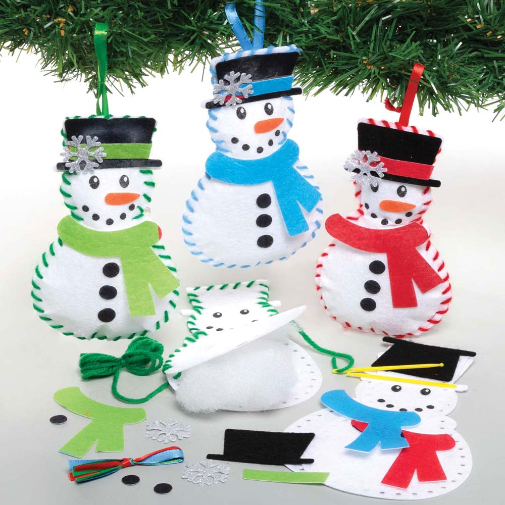 Snowman Decoration Sewing Kits (Pack of 3)